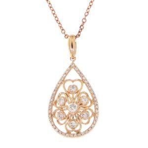Natural Pear Shape Fancy Diamond Pendant